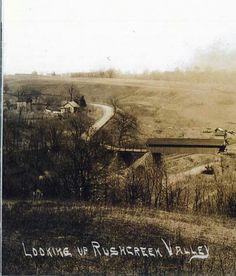 Bridge between the Rushville's over tracks AND  Rushcreek