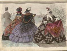 In the Swan's Shadow: Allgemeine Moden-Zeitung, 1862.  Civil War Era Fashion Plate