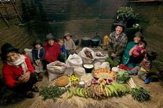 Ecuador: The Ayme family of Tingo.  Food expenditure for one week: $31.55. Family recipe: Potato soup with cabbage.