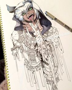 I forgot to upload this yesterday the outlines are nearly done! #reyhansartwork #reyhansartworks #anubis #copic #copicmarkers #linework