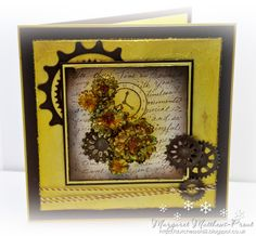 made using the new heartfelt creations vintage morning background set....