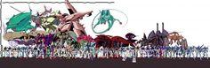 Mobile Suit Gundam - Universal Century Size Comparison Chart