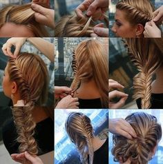 Love this Fishtail Braided Updo!