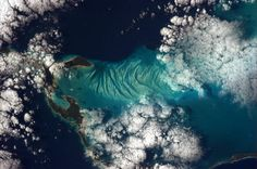 The beauty of the Bahamas is surreal; every blue that exists. Taken on New Year's Day, 2013 from the Space Station.