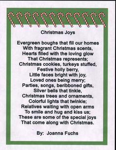 Poems - Christmas Joys