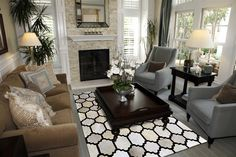 Madisons Contemporary Brown and White Patchwork Cowhide Rug