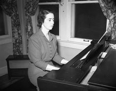 Mary Shep in about 1948. That Steinway was what I did my lessons on.  She had twin grands. This was the better one.