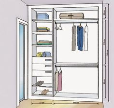 Small closet designs with measures - Decorating Homes