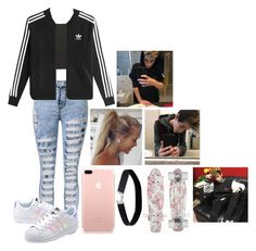 """""""Brandon Rowland rp"""" by jasmine-the-basic-penguin ❤ liked on Polyvore featuring Topshop, adidas Originals and Miss Selfridge"""