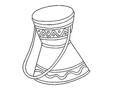 African Drum Coloring Sheets | Coloring Pages