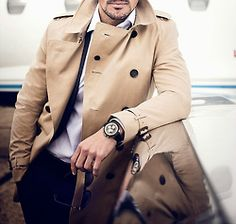 A brown coat for the winter and a Bold watch