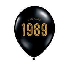 30th Birthday Decorations Balloons Decor Vintage 1989 Thirty