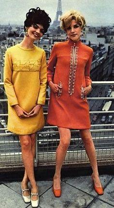 Linda Morand & Alana Collins wearing Pierre Cardin 1967