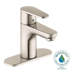 Hansgrohe Talis E2 Single Hole 1-Handle Bathroom Faucet in Brushed Nickel