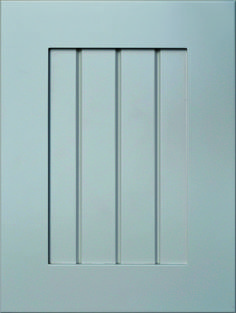 """Merida Grooved Flat Panel Door  Available Material: MDF Color Shown: Repose Gray Paint Available in All Outside Profiles - Shown with 18"""" Roundover Outside Profile Repose Gray Paint, Grey Paint, Face Framing, Custom Cabinetry, Cnc Router, Panel Doors, Merida, Cabinet Doors, Color Show"""