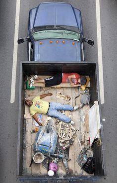 Carpoolers Resting in Pickup Trucks - Alehandro Cartagena - 09