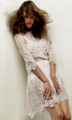 White lace dress - the lighter side of freja - via 'this is glamorous'