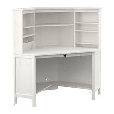 white corner desk.  Desk HEMNES Corner Workstation White Stain 40 18x53 78 To White Desk I