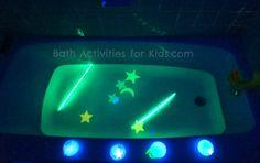 glowing ice play and bath