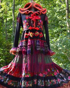 Reserved for Judith. Patchwork Gypsy style SWEATER COAT with crochet collar. Ready to ship Bohemian Mode, Bohemian Style, Boho Chic, Fashion Art, Boho Fashion, Nordstrom Coats, Bohemian Schick, Textiles, Recycled Fashion