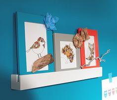 Lišta k upevnění rámečků na fotky, se kterými snadno ozdobíte svůj domov