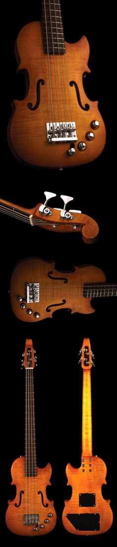 Custom viola bass with finish by Keith Roscoe