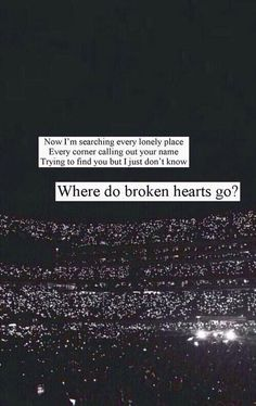 Where do broken hearts go? One direction