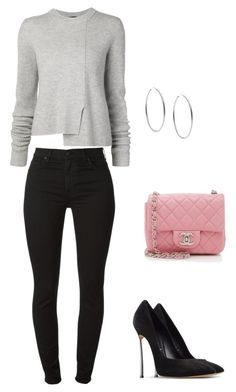 """""""Untitled #3"""" by missduvall on Polyvore featuring Proenza Schouler, 7 For All Mankind, Chanel, Casadei and Michael Kors"""