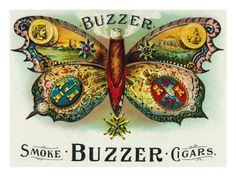 Buzzer Brand Cigar Inner Box Label