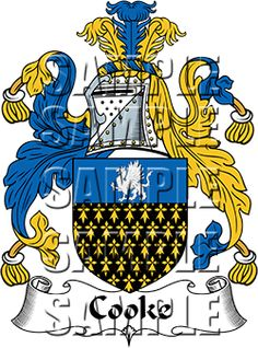 Cooke Family Crest apparel, Cooke Coat of Arms gifts