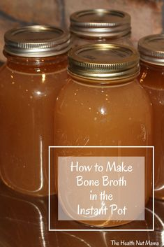 How to make Bone Broth in the Instant Pot - The Health Nut Mama Cheap Meals, Cheap Food, Paleo Stew, Making Bone Broth, Best Instant Pot Recipe, Leaky Gut, Healthy Lifestyle Tips, Pressure Cooking, Dog Food Recipes