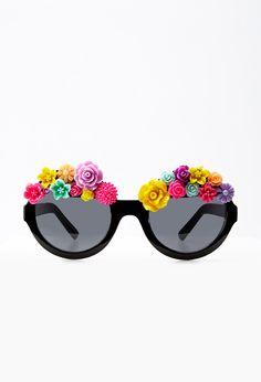 Rad & Refined Floral Cluster Sunglasses | FOREVER21 - 1000053538