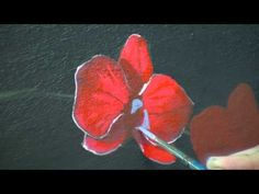 Red Orchids time lapse acrylic speed painting by TIm Gagnon http://www.timgagnonstudio.com - YouTube