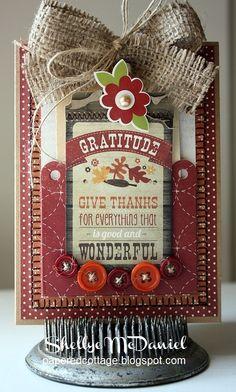 "Simple Stories' Harvest Lane ""Gratitude"" Card by Shellye McDaniel"