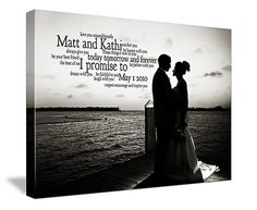 Personalized Romantic Gift for a Wedding by GeezeesCustomCanvas