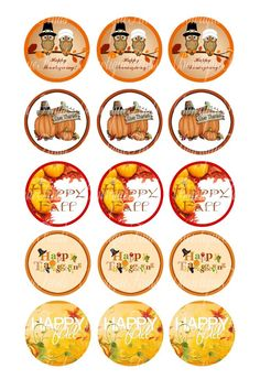 "Thanksgiving U PRINT.. 1"" Bottle Cap Images Sent To You... U PRINT"