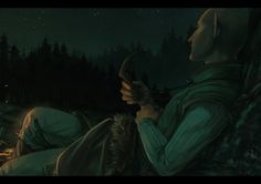 'He couldn't sleep.' Tbh I still don't know if we were fed bullshit but I like the idea of Solas fade-travelling... Oh the wonders, if we could do something like that in real life 8)