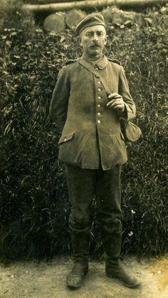 WWI, German soldier. Photo Fournie par Jean-Hugues Crétin, Reims.