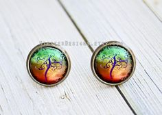 Hey, I found this really awesome Etsy listing at https://www.etsy.com/listing/170522628/antique-bronze-stud-earrings-abstract