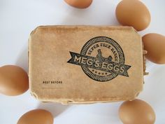 Meg's Eggs by Mary Faber, via Behance