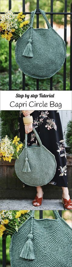Crochet Capri Circle Bag