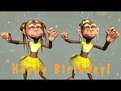 Funny Text Birthday Cards 3 45 Funny Happy Birthday song Monkeys Sing Happy Birthday to Happy Birthday Dancing, Happy Birthday Sister Funny, Happy Birthday Funny Humorous, Happy Birthday For Him, Funny Happy Birthday Pictures, Funny Happy Birthdays, Happy Birthday Noor, Free Singing Birthday Cards, Animated Birthday Greetings