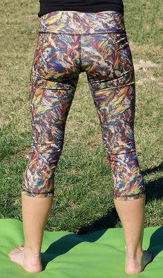 Fall Leaves Crystal Yoga Pants - for any time of the year! https://crystalartoutfitters.com/products/fall-leaves-crystal-yoga-pants