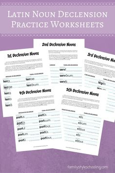 Latin Nouns Declension Free Printable - Family Style Schooling