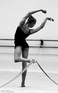 Rhythmic gymnastics training