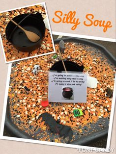 Blending and segmenting game- silly soup halloween