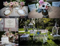 Alice in Wonderland themed outdoor reception #outdoor #wedding #reception #AliceinWonderland #whimsical