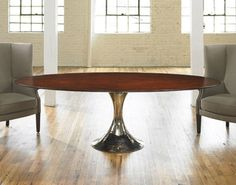 base for the top we discussed??   Julian Chichester Dakota Wood Oval Table - traditional - dining tables - Julian Chichester