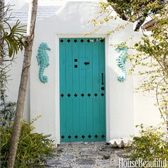 coastal front door color ideas ! | coastal decorating | pinterest