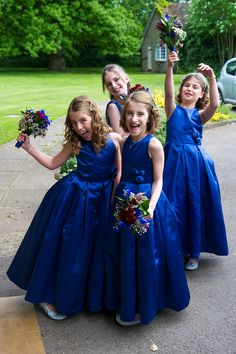 Teeny tiny TARDIS blue bridesmaids! #doctorwho #wedding